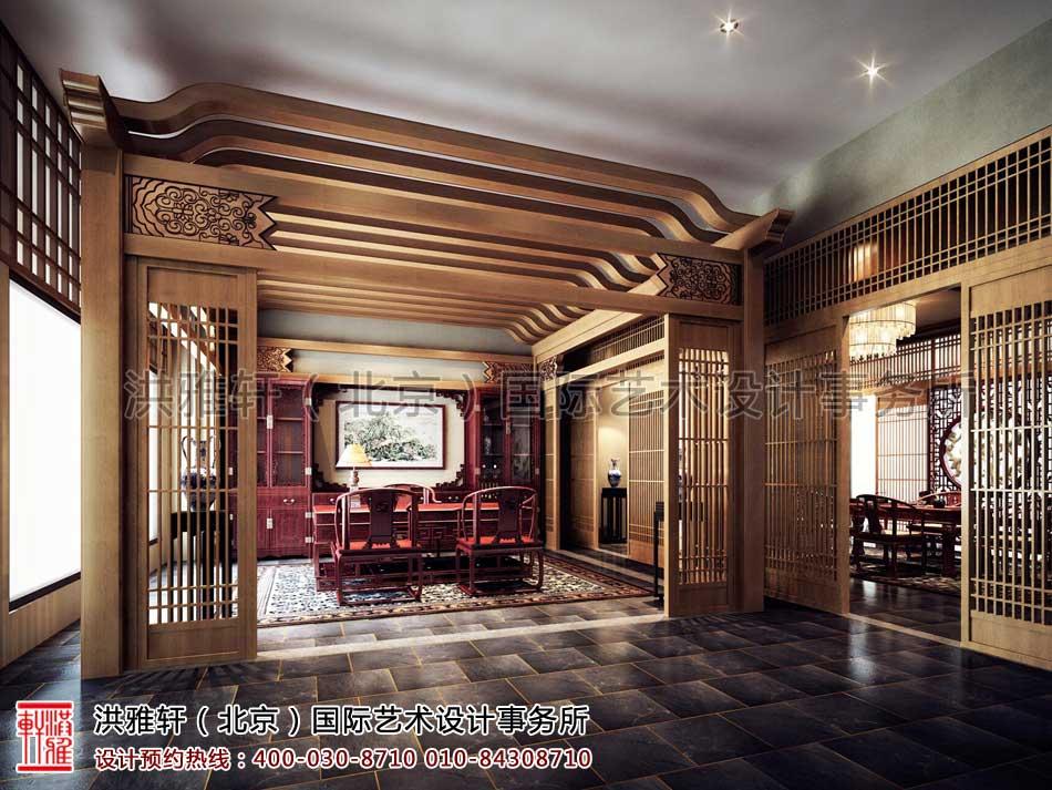 江苏苏州某集团老板办公室中式装修-办公室效果设计方案