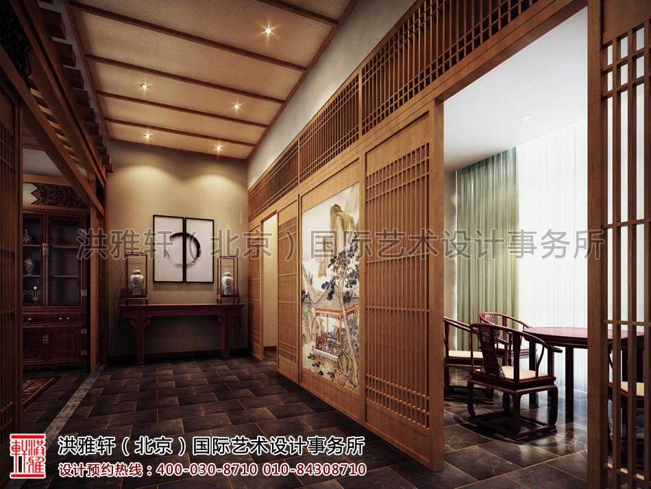 江苏苏州某集团老板办公室中式装修-效果方案