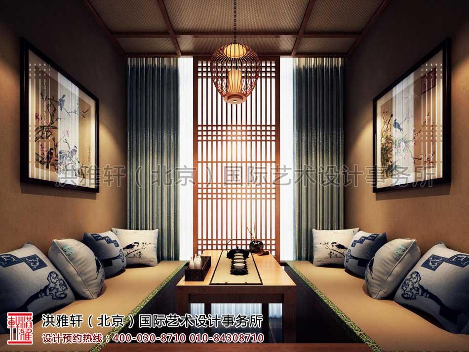 江苏苏州某集团老板办公室中式装修-茶室效果方案