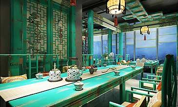 北京建外SOHO茶楼中式设计案例 深藏历史的沧桑