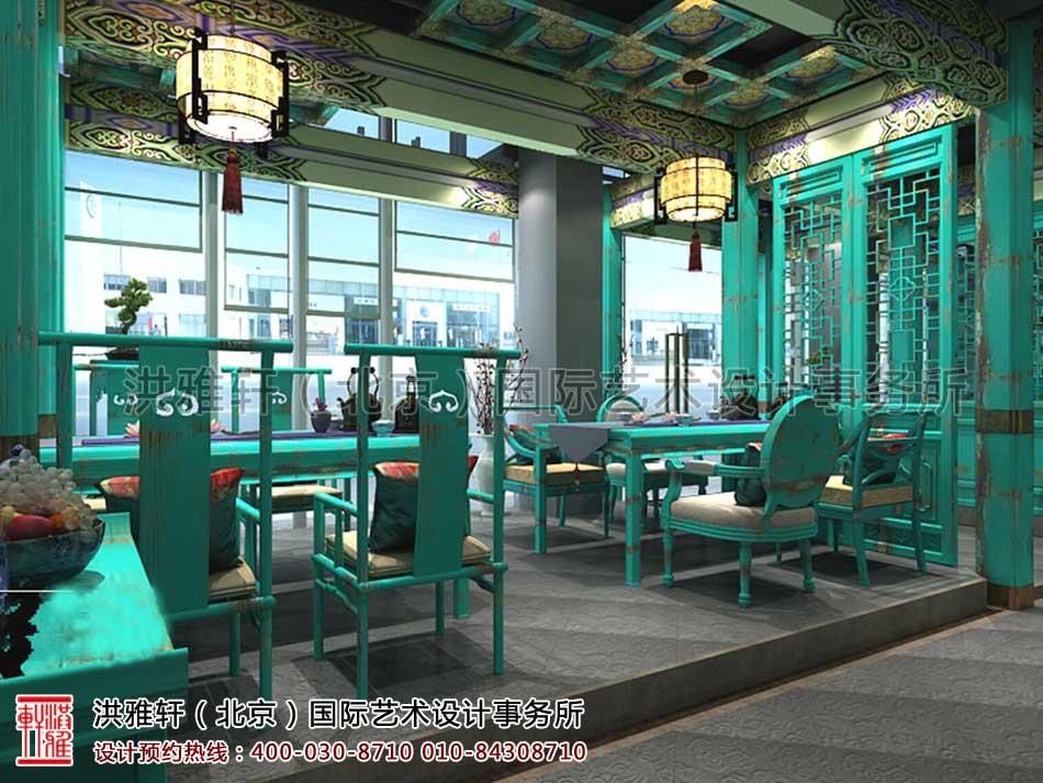 北京建外SOHO茶楼中式设计 - 一层茶座区域