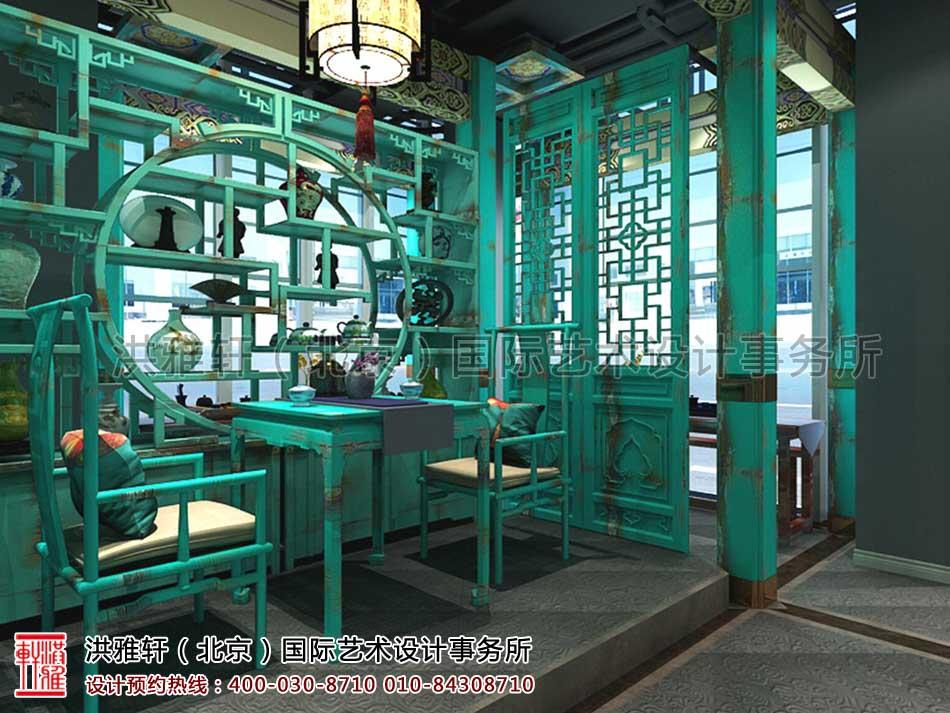 北京建外SOHO茶楼中式设计 - 一层茶座区域(二)