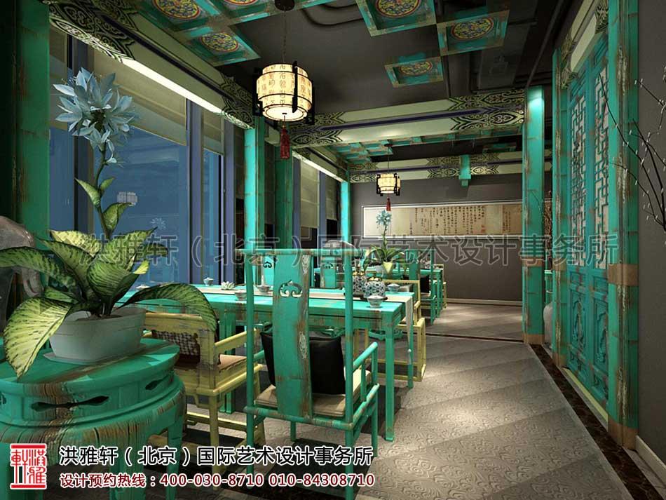 北京建外SOHO茶楼中式设计 -三层会客区域(二)