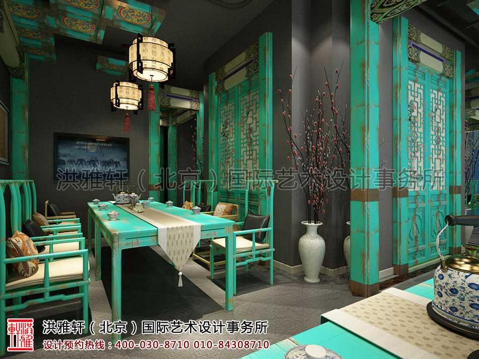 北京建外SOHO茶楼中式设计 -三层会客区域(三)