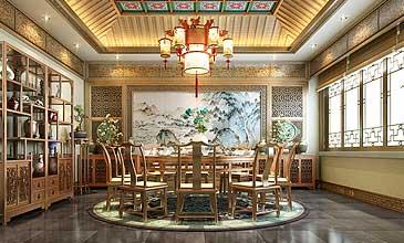 山西运城某客户古典风格四合院中式设计案例欣赏
