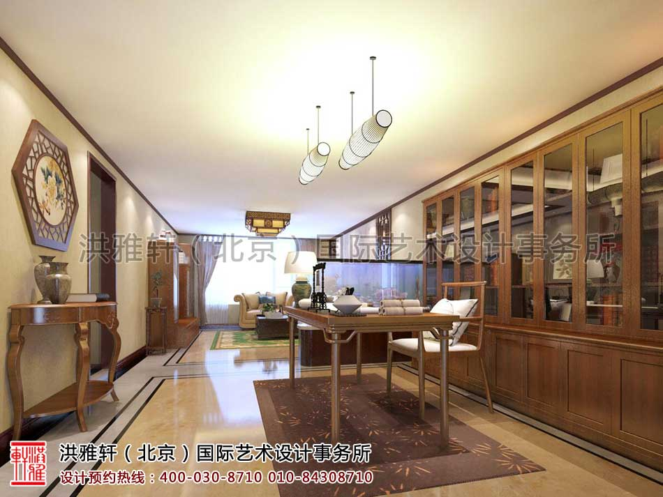 北京人济山庄中式家装设计案例之设计效果图(角度一)