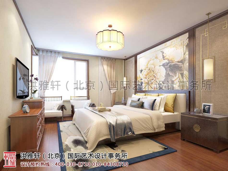 北京人济山庄中式家装案例之卧室设计效果图(一)