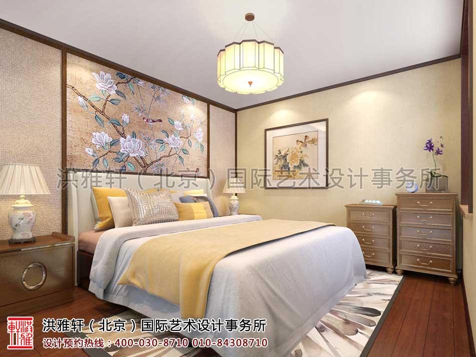 北京人济山庄中式家装案例之卧室设计效果图(二)