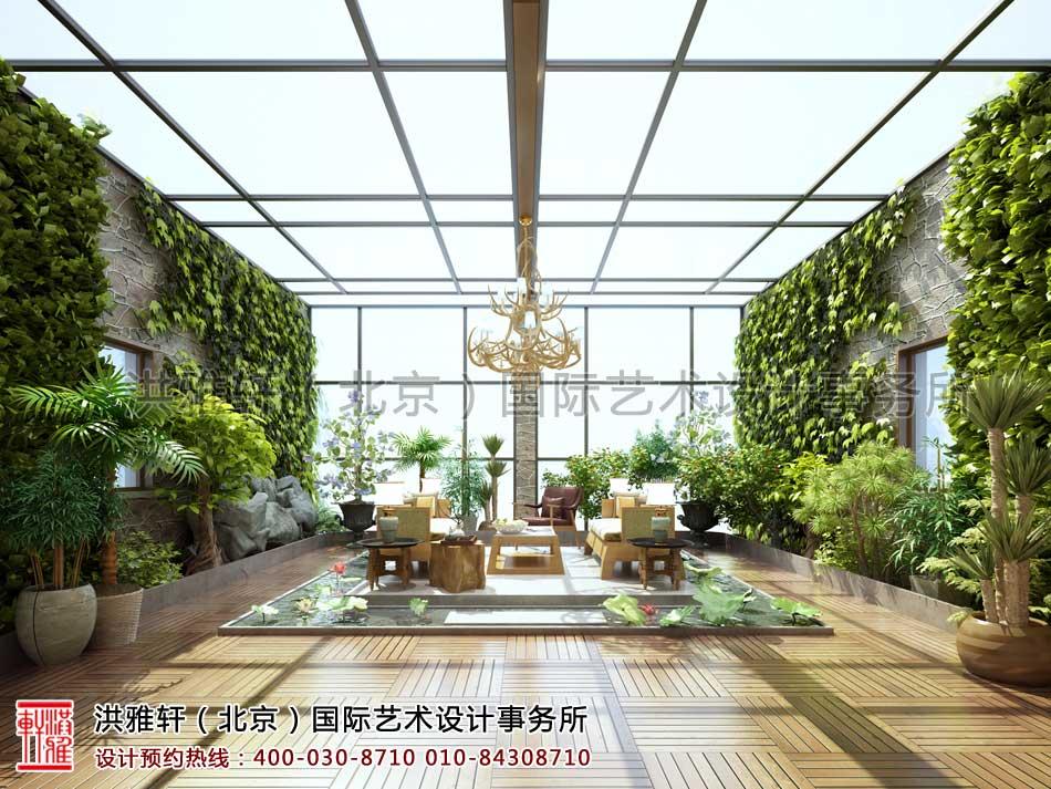 中式装修阳台效果图