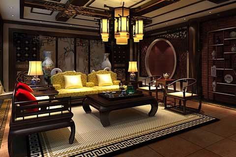 中式风格别墅设计效果图聚合赏析(六)
