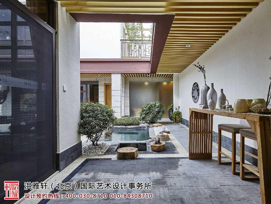 中式风格别墅庭院设计欣赏(一)
