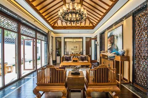 复式别墅中式装修各种风格局部效果图聚合欣赏