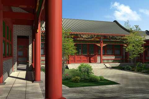 中式风格别墅庭院设计欣赏(二)