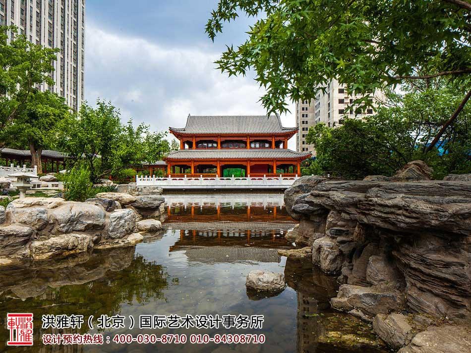 中式园林局部景观设计效果图一览