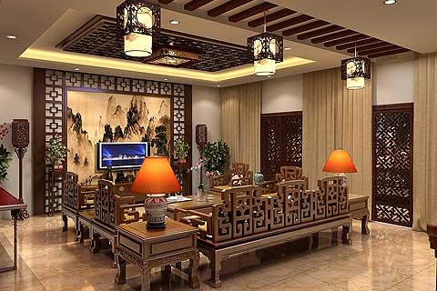 新古典中式风格家装设计效果图欣赏