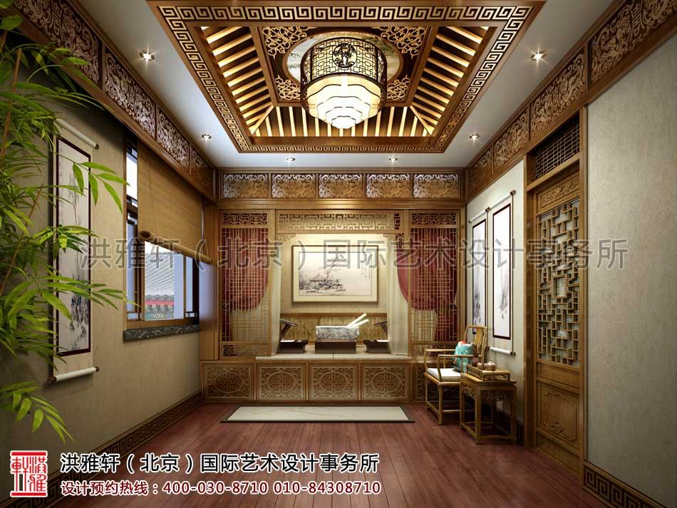 内蒙古包头市某客户四合院室内中式设计之东厢房卧室