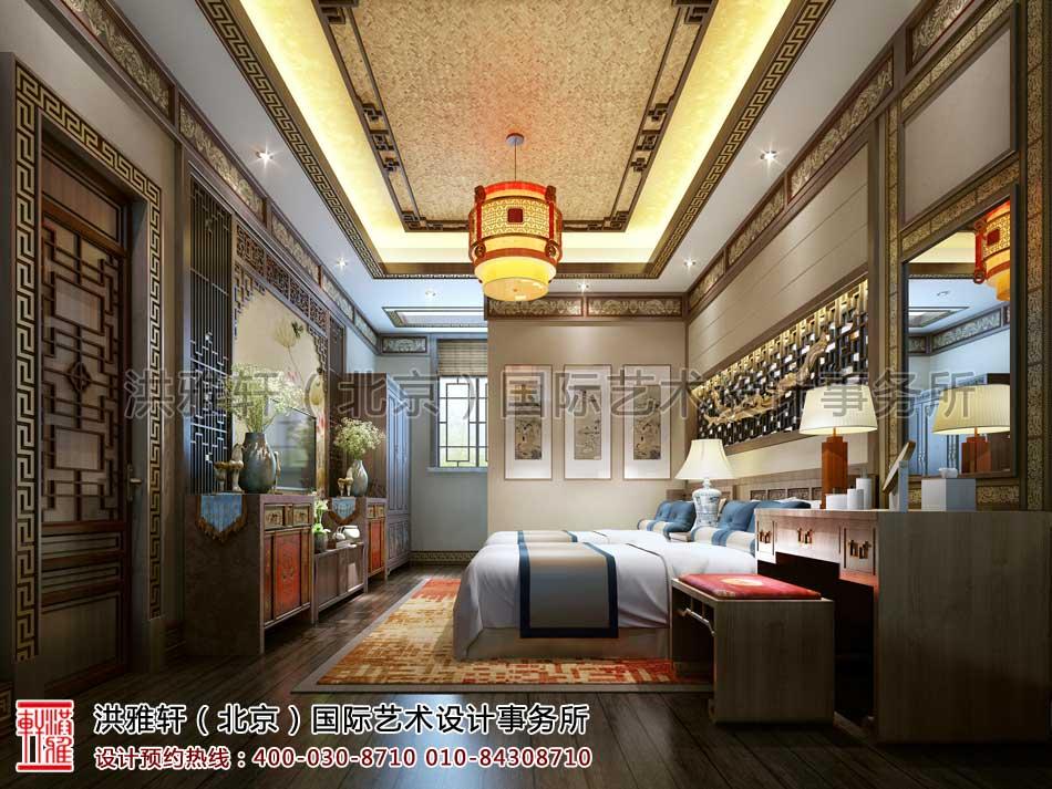 内蒙古包头市某客户四合院室内中式设计之倒座房客房