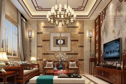 楼中楼中式古典风格装修设计 稳重大气
