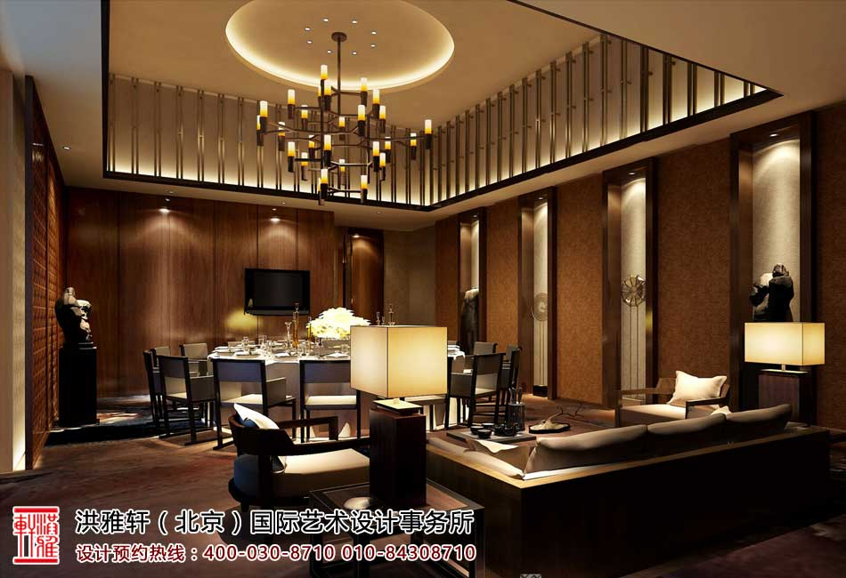 楼中楼中式古典风格装修设计