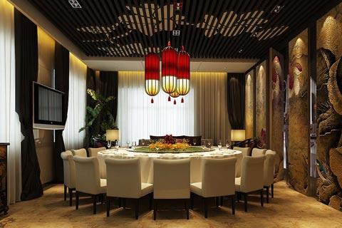 中式酒店包间装修效果图设计欣赏