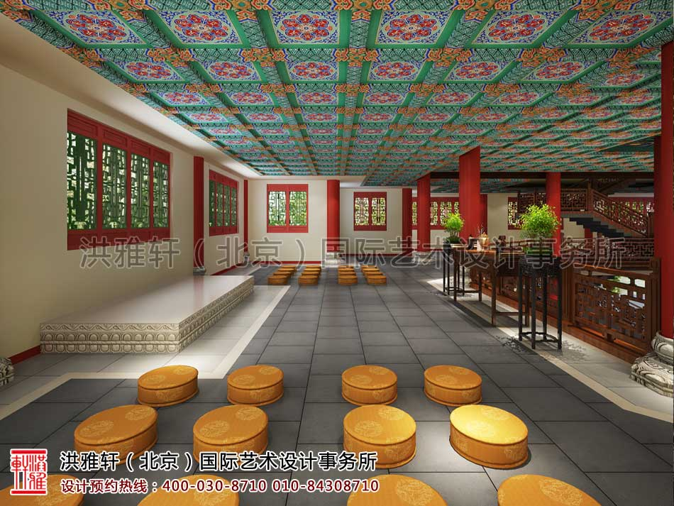 大悲寺禅意中式空间设计效果图(二)