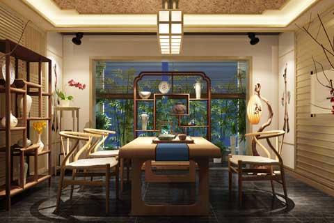 静谧无尘 吉林通榆白城茶楼中式设计方案