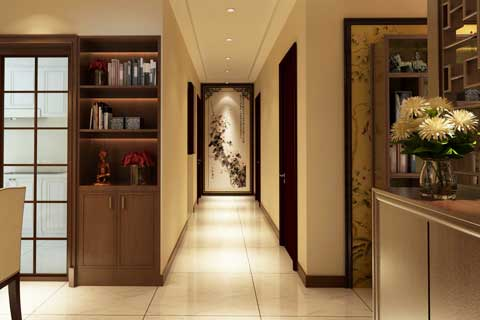 家庭装修玄关中式设计效果图集锦欣赏