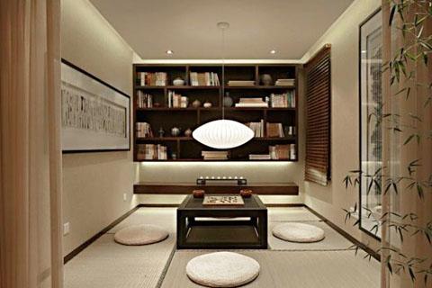 新中式设计的最佳组合中式书房+中式茶室