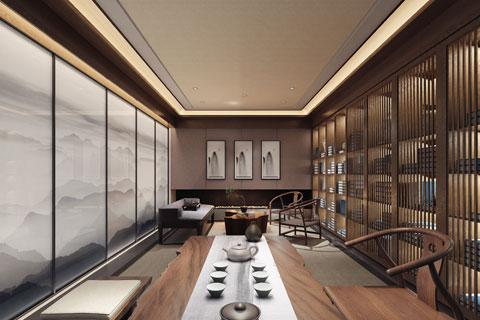 北京亚运村新中式茶会所茶室VR全景欣赏