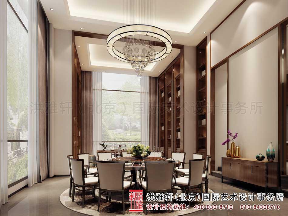 广东深圳新中式风格设计餐厅效果图