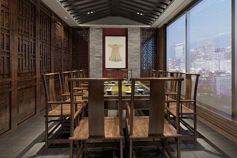 北京怀柔古典茶楼设计大厅VR全景效果图