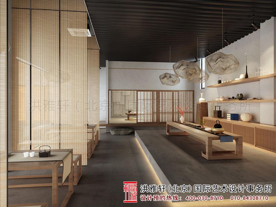 北京高碑店禅意茶楼中式设计之茶室空间(一)