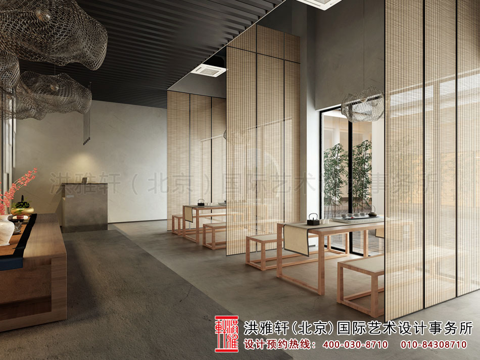 北京高碑店禅意茶楼中式设计之茶室空间(二)
