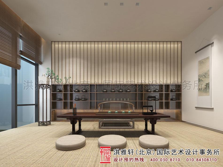北京高碑店禅意茶楼中式设计之茶室空间(四)