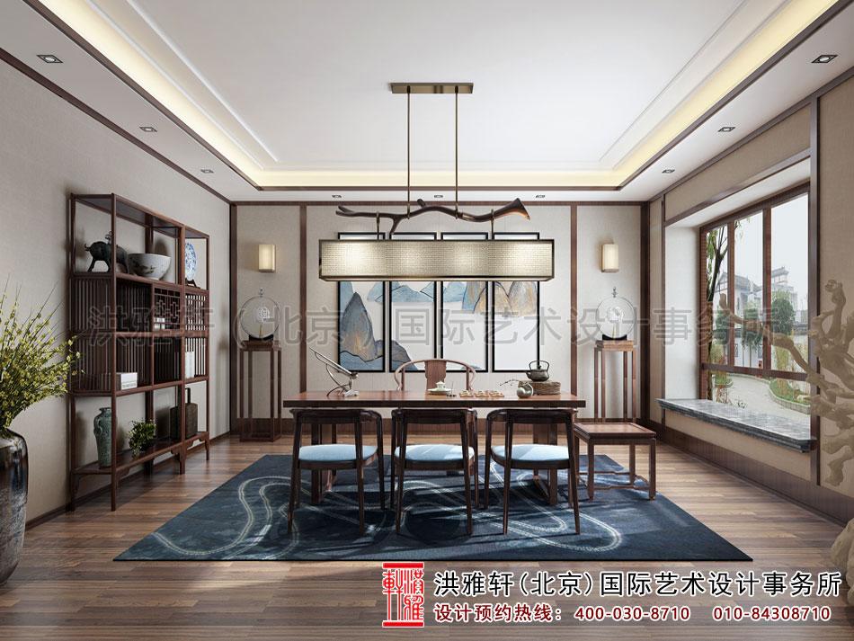 亚运村新中式风格茶楼设计之茶室空间(二)
