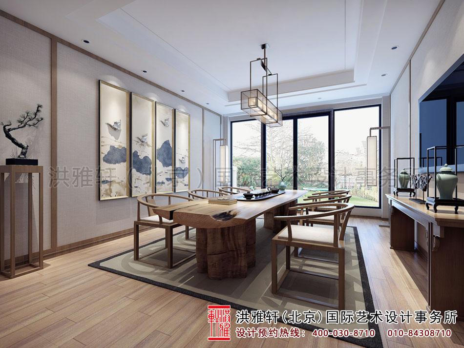 亚运村新中式风格茶楼设计之茶室空间(三)
