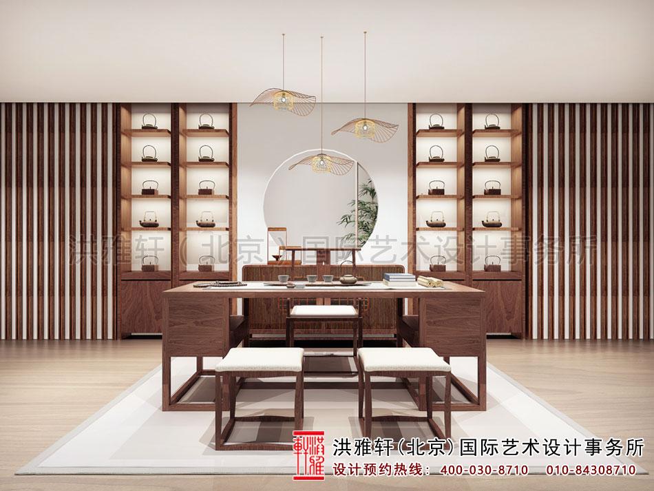 亚运村新中式风格茶楼设计之茶室空间(四)