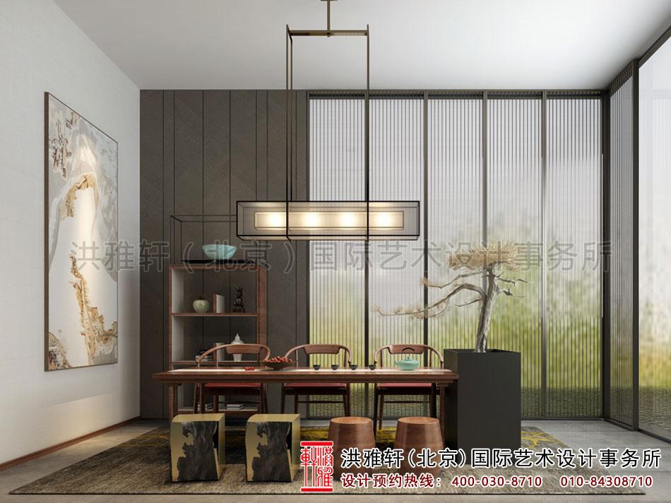 亚运村新中式风格茶楼设计之茶室空间(五)