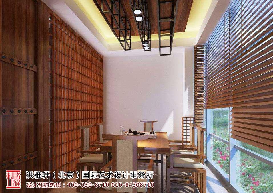 茶楼中式装修茶室效果图4