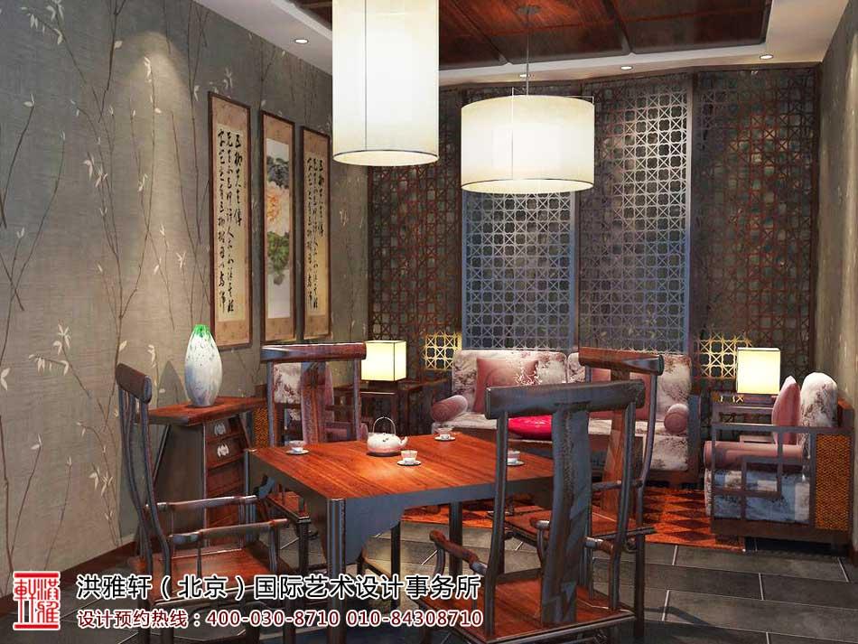 茶楼中式装修茶室效果图2