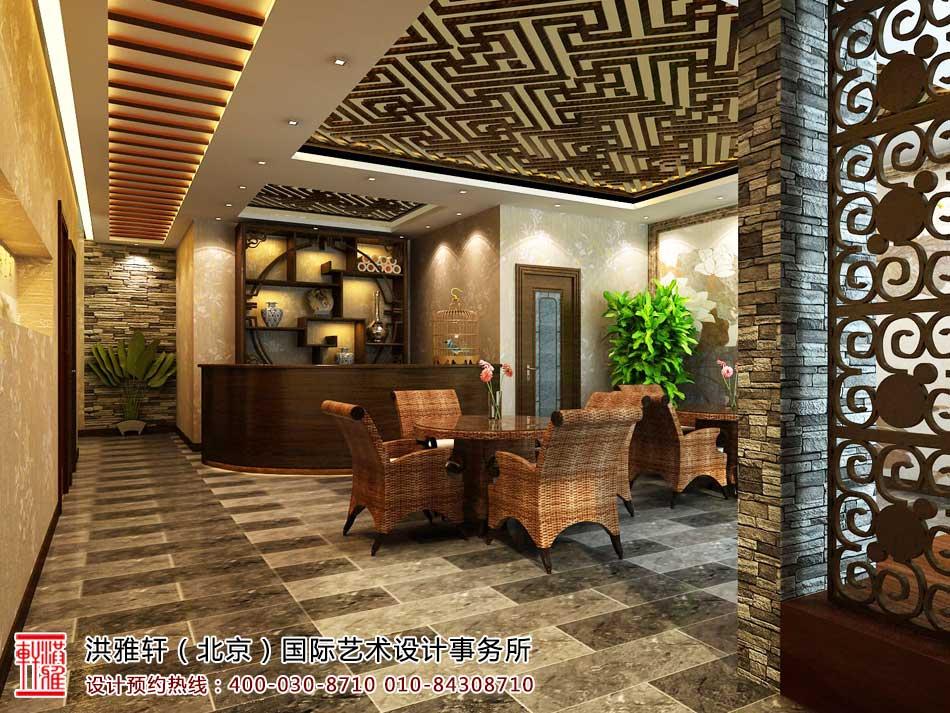 茶楼中式装修茶室效果图9