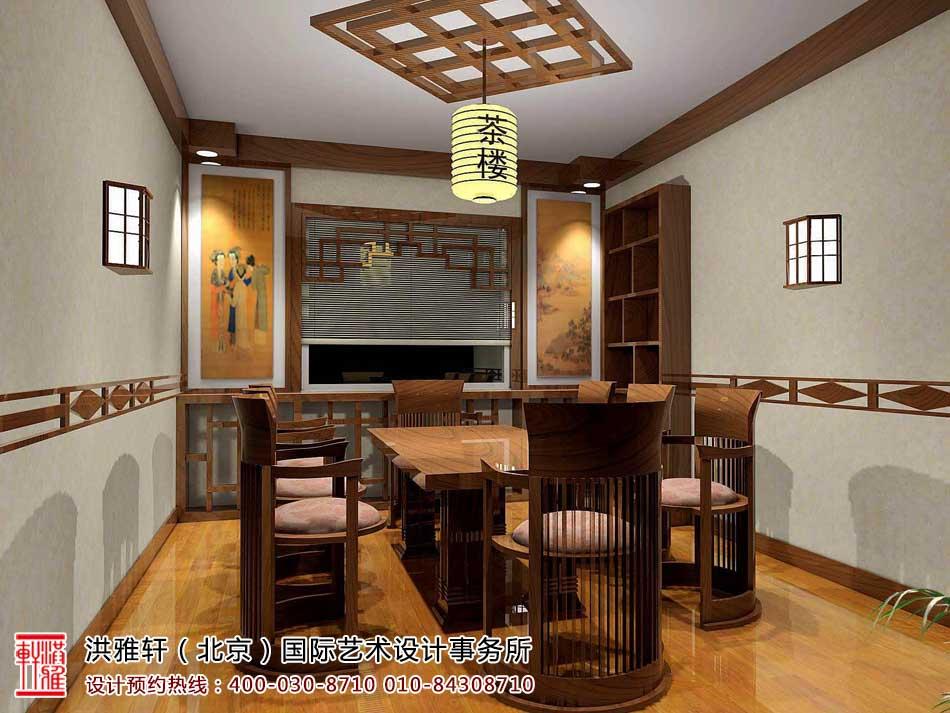 茶楼中式装修茶室效果图6