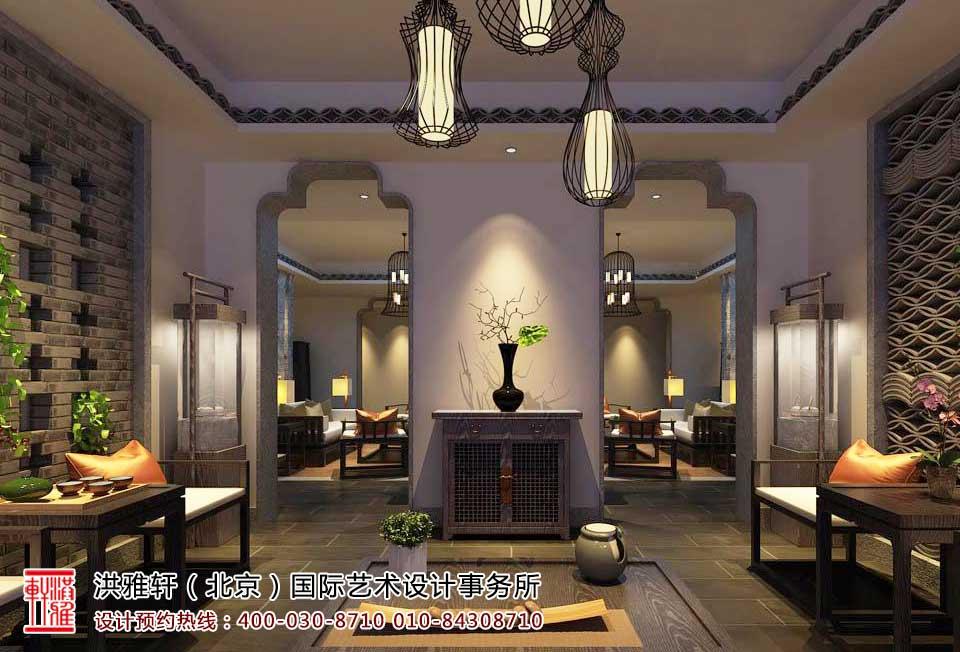 茶楼中式装修茶室效果图5