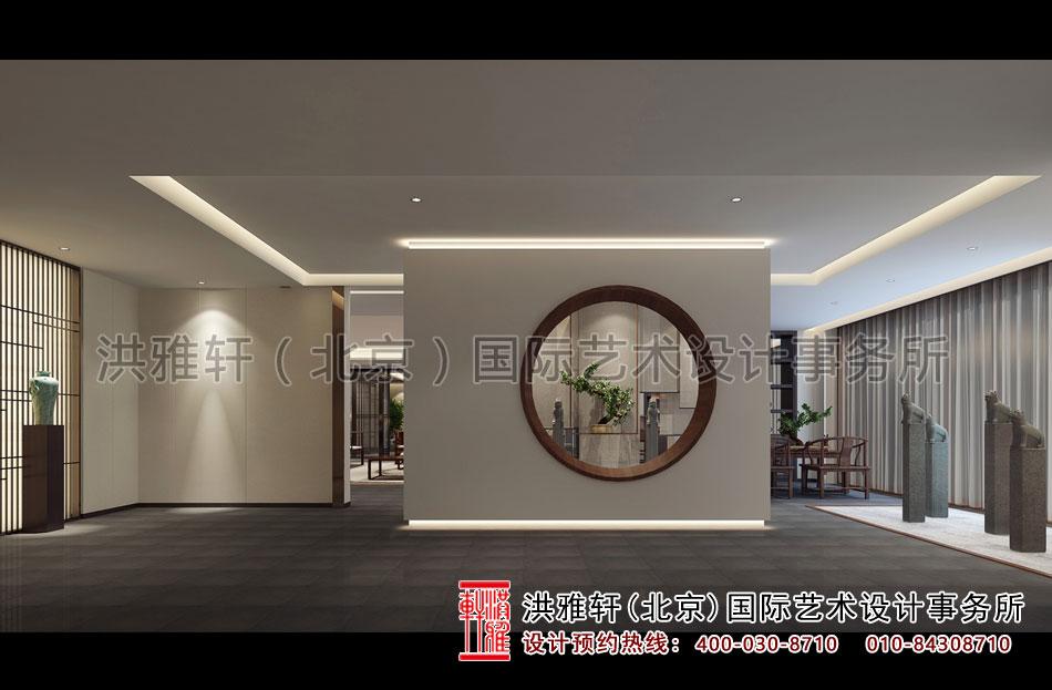 茶会所中式设计入户大厅效果图.jpg