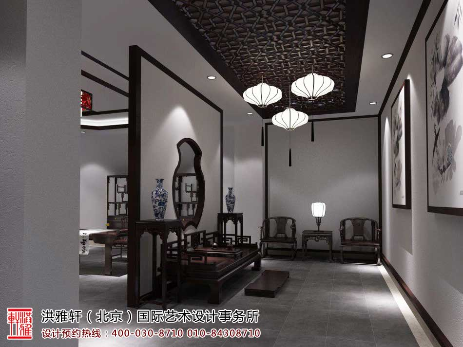 展廳中式裝修效果圖,紅木家具展廳裝修圖