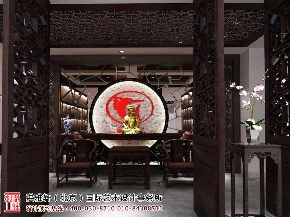 红木家具中式展厅效果图5