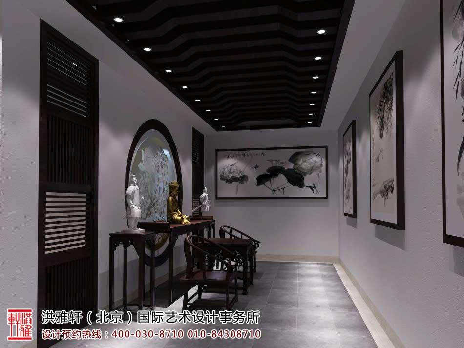 红木家具中式展厅效果图6