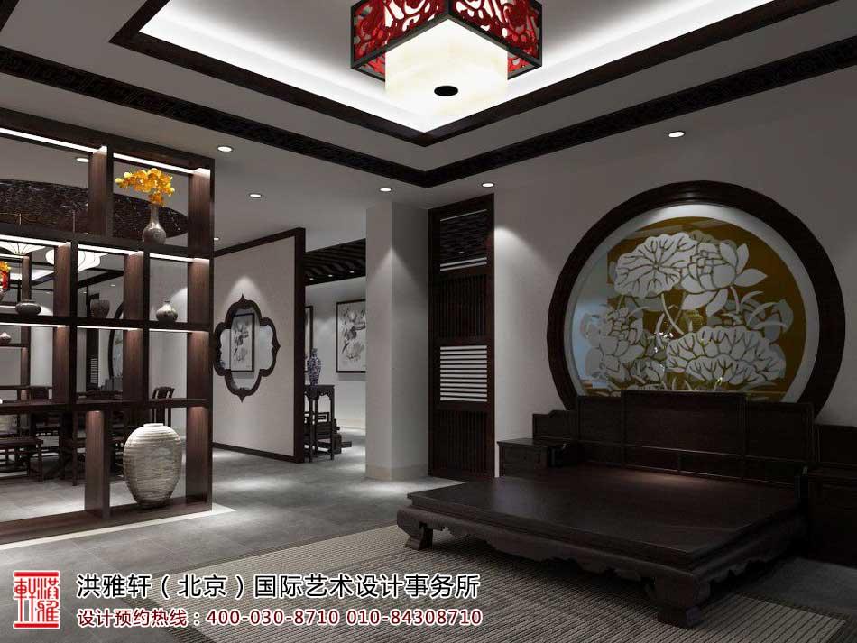红木家具中式展厅效果图4