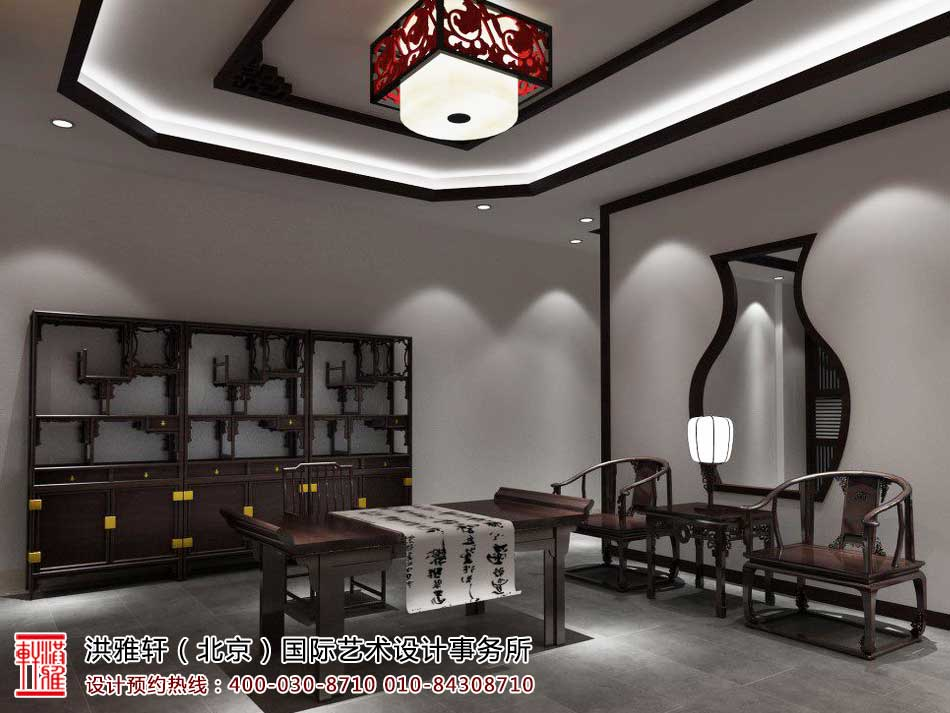 红木家具中式展厅效果图2