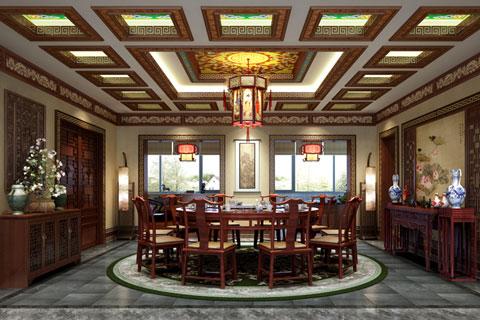 安徽滁州古典中式别墅设计 内敛灵秀彰显富贵雅韵